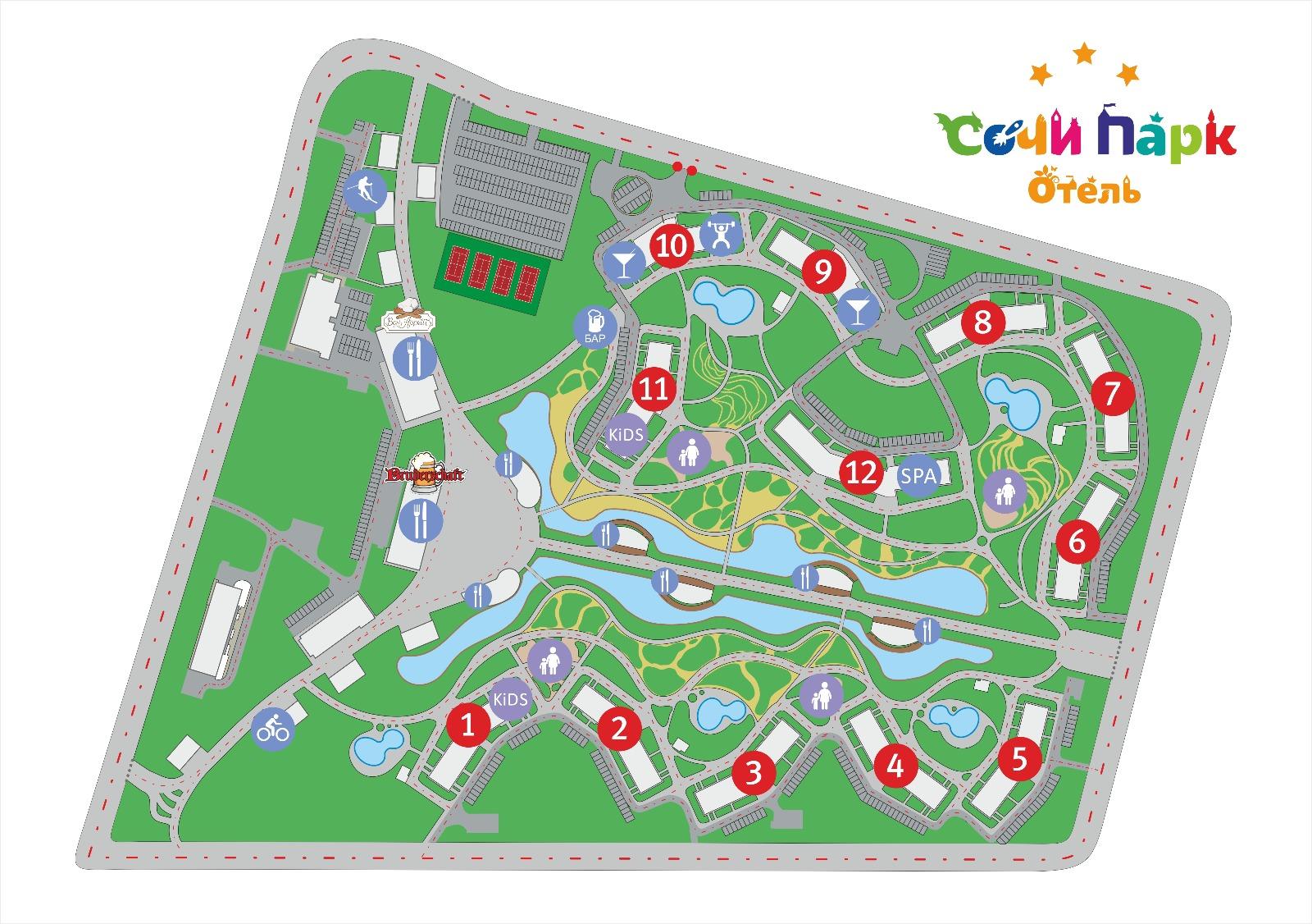 парк отель олимпиец схема проезда