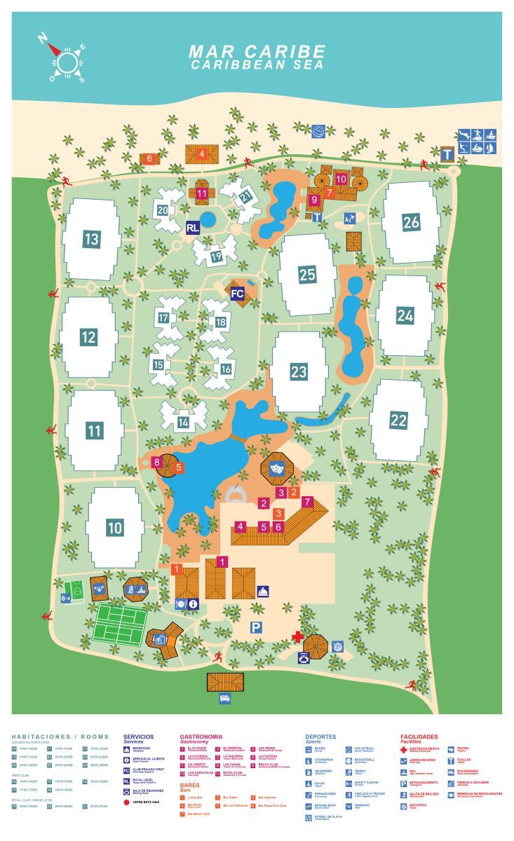 Paradisus punta cana карта схема 44