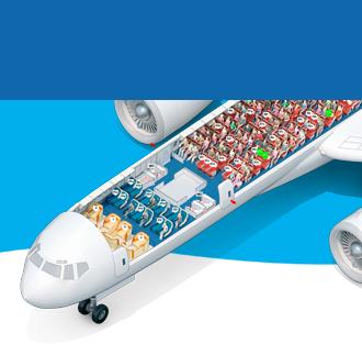 Схемы рейсов самолетов